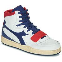 Schuhe Herren Sneaker High Diadora MI BASKET USED Weiss / Blau / Rot