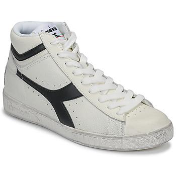 Schuhe Sneaker High Diadora GAME L HIGH WAXED Weiss / Schwarz