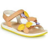 Schuhe Kinder Sandalen / Sandaletten Camper TWINS Braun / Gelb
