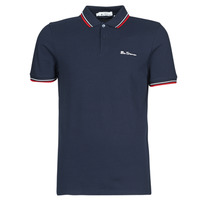 Kleidung Herren Polohemden Ben Sherman SIGNATURE POLO Marine / Rot / Weiss