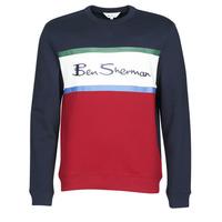 Kleidung Herren Sweatshirts Ben Sherman COLOUR BLOCKED LOGO SWEAT Marine / Rot