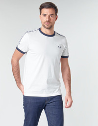 Kleidung Herren T-Shirts Fred Perry TAPED RINGER T-SHIRT Weiss