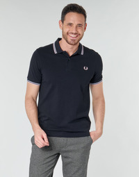 Kleidung Herren Polohemden Fred Perry TWIN TIPPED FRED PERRY SHIRT Blau / Weiss