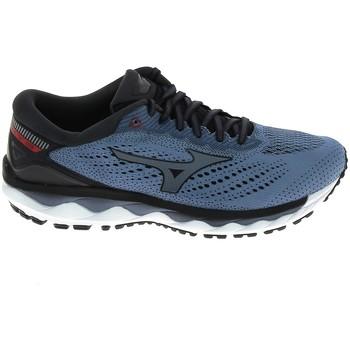 Schuhe Herren Laufschuhe Mizuno Wave Sky 3 Stone Bleu Blau
