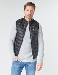 Kleidung Herren Daunenjacken Emporio Armani EA7 CORE ID 8NPQ02 Schwarz / Gold
