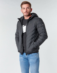 Kleidung Herren Daunenjacken Emporio Armani EA7 TRAIN CORE SHIELD M DOWN LIGHT HOODIE JACKET Schwarz