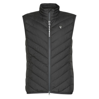 Kleidung Herren Daunenjacken Emporio Armani EA7 TRAIN CORE SHIELD M DOWN LIGHT VEST Schwarz