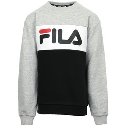 Kleidung Kinder Sweatshirts Fila Night Blocked Crew Kids Schwarz