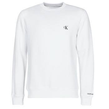 Kleidung Herren Sweatshirts Calvin Klein Jeans CK ESSENTIAL REG CN Weiss