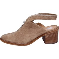 Schuhe Damen Pantoletten / Clogs Moma sandalen wildleder beige