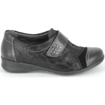 Schuhe Derby-Schuhe & Richelieu Boissy Derby 7510 Noir Texturé Schwarz