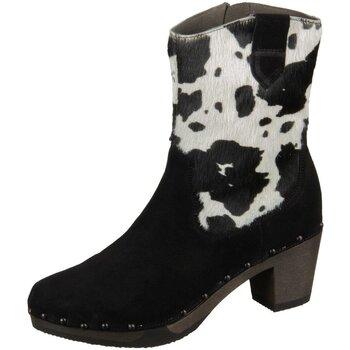 Schuhe Damen Low Boots Softclox Stiefeletten Gladys 3486-01 kuh Kaschmir Fell 3486-01 schwarz