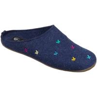 Schuhe Damen Hausschuhe Haflinger EVEREST FARFALLINE 484014-72 blau