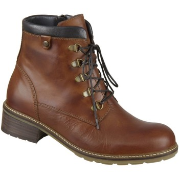 Schuhe Damen Boots Wolky Stiefeletten Ronda 0447530-430 cognac Softy Wax 0447530-430 braun
