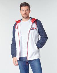 Kleidung Herren Jacken Tommy Jeans TJM COLORBLOCK ZIPTHROUGH JCKT Weiss / Blau / Rot