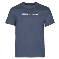 Kleidung Herren T-Shirts Tommy Jeans TJM STRAIGHT SMALL LOGO Marine