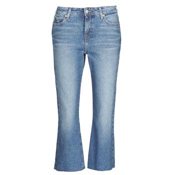Kleidung Damen Straight Leg Jeans Tommy Jeans KATIE CROP FLARE Blau