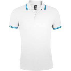 Kleidung Herren Polohemden Sols PASADENA MODERN MEN Blanco