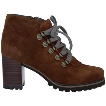 Schuhe Damen Boots Pedro Miralles 25840 Botines con Cordones de Mujer Braun