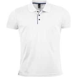 Kleidung Herren Polohemden Sols PERFORMER MEN SPORT Blanco