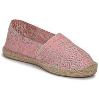 Schuhe Damen Leinen-Pantoletten mit gefloch Pare Gabia VP FLUO Rose / Weiss