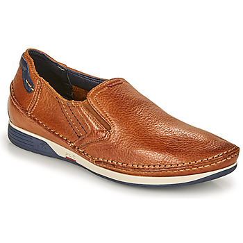 Schuhe Herren Slip on Fluchos JAMES Braun / Marine