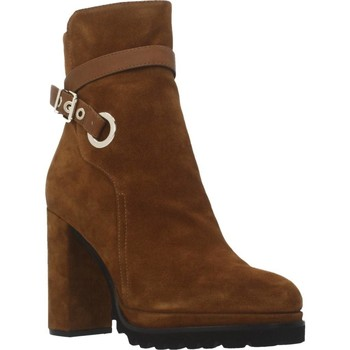 Schuhe Damen Low Boots Elvio Zanon EK3602P Brown