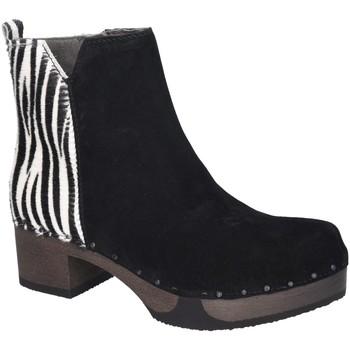 Schuhe Damen Boots Softclox Stiefeletten S3493 ZEBRA schwarz