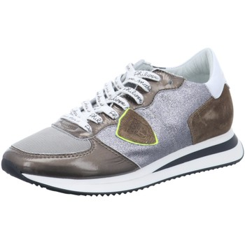 Schuhe Damen Sneaker Low Philippe Model Schnuerschuhe - Sneaker TZLD-GP02 silber
