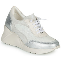 Schuhe Damen Sneaker Low Hispanitas TOKIO Weiss / Silbern