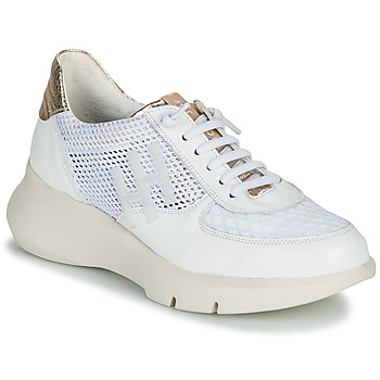 Schuhe Damen Sneaker Low Hispanitas CUZCO Weiss / Gold / Rose