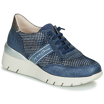Schuhe Damen Sneaker Low Hispanitas RUTH Blau / Gold / Silbern