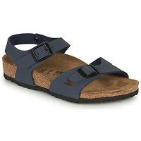 Schuhe Kinder Sandalen / Sandaletten Birkenstock RIO Navy