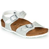 Schuhe Mädchen Sandalen / Sandaletten Birkenstock RIO Silber