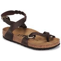 Schuhe Damen Sandalen / Sandaletten Birkenstock YARA LEATHER Braun