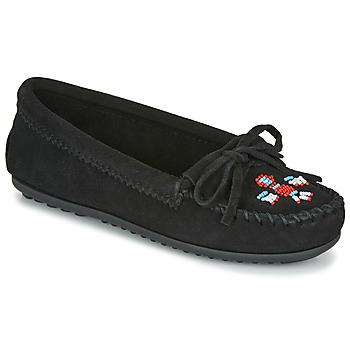 Schuhe Damen Slipper Minnetonka THUNDERBIRD II Schwarz