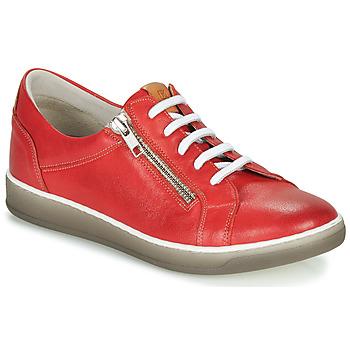 Schuhe Damen Sneaker Low Dorking KAREN Rot / Beige