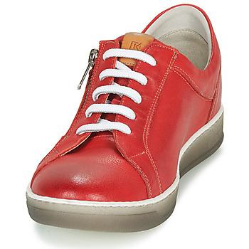 Dorking KAREN Rot / Beige - Kostenloser Versand |  - Schuhe Sneaker Low Damen 9499
