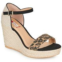 Schuhe Damen Sandalen / Sandaletten S.Oliver NOULATI Schwarz / Leopard