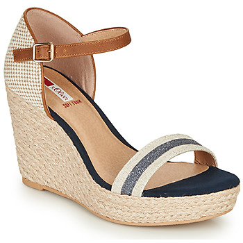 Schuhe Damen Sandalen / Sandaletten S.Oliver NOULATI Beige / Marine