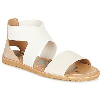 Schuhe Damen Sandalen / Sandaletten Sorel ELLA SANDAL Weiss / Beige