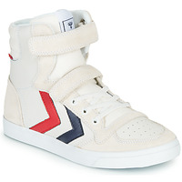 Schuhe Kinder Sneaker High Hummel SLIMMER STADIL LEATHER HIGH JR Weiss