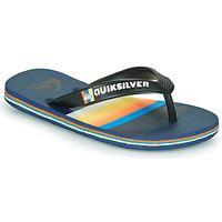 Schuhe Kinder Zehensandalen Quiksilver MOLOKAI SLAB Blau / Orange / Schwarz