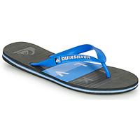 Schuhe Herren Zehensandalen Quiksilver MOLOKAI WOLRDBLOCK Blau / Schwarz
