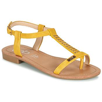 Schuhe Damen Sandalen / Sandaletten Les Petites Bombes EMILIE Senf