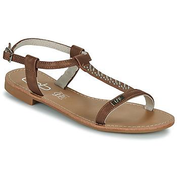 Schuhe Damen Sandalen / Sandaletten Les Petites Bombes EMILIE Camel