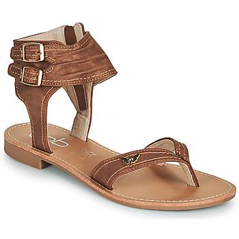Schuhe Damen Sandalen / Sandaletten Les Petites Bombes CAMEL Camel