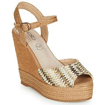Schuhe Damen Sandalen / Sandaletten Les Petites Bombes PAOLA Beige