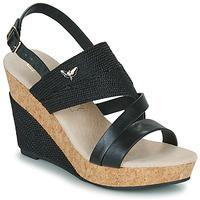 Schuhe Damen Sandalen / Sandaletten Les Petites Bombes MELINE Schwarz