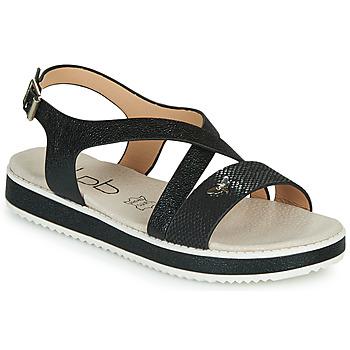 Schuhe Damen Sandalen / Sandaletten Les Petites Bombes MARIA Schwarz